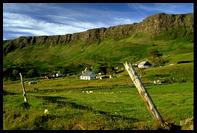 Vesnice Cleadale na ostrove Eigg