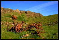 Zanedbane zemedelske stroje v Cleadale na ostrove Eigg